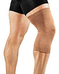 Tommie Copper Men\'s Recovery Refresh Knee Sleeve, Nude, X-Large