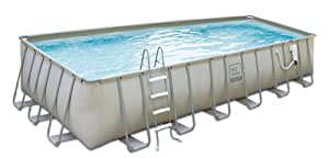 """Rectangle Above-Ground Soft Sided Pool Package - 9'W x 18'L x 52""""D"""