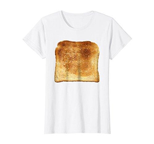 Womens Bread & Toast T-Shirt Halloween Costume Ideas Medium White