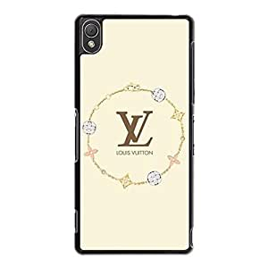 Hard Durable Phone Case for Sony Xperia Z3,Fashion Luxury LV Loius with Vuitton Logo Sony Xperia Z3 Skin Cover