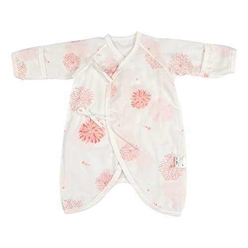 Fairy Baby Newborn Baby Clothes Japanese Kimono Gown Organic Cotton Floral Romper Pajamas Size 0-3M (A) ()