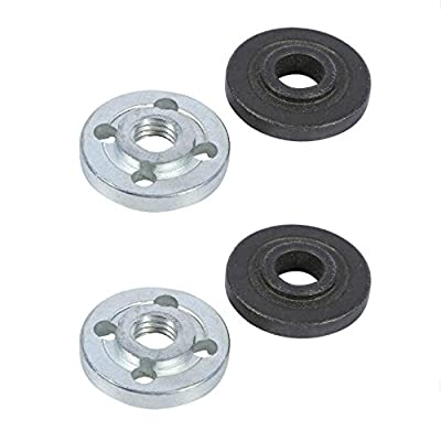 Angle Grinder Flange, 2 x Pair Replacement Electrical Angle Grinder Fitting Part Inner Outer Flange Nuts for Makita 9523
