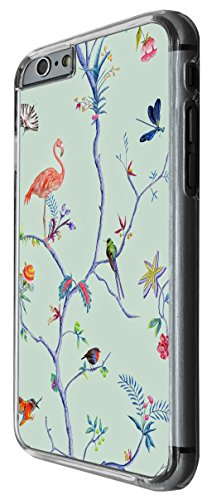 1180 - Floral Shabby Chic Roses Multi Birds Flamingo Design For iphone 4 4S Fashion Trend CASE Back COVER Plastic&Thin Metal -Clear