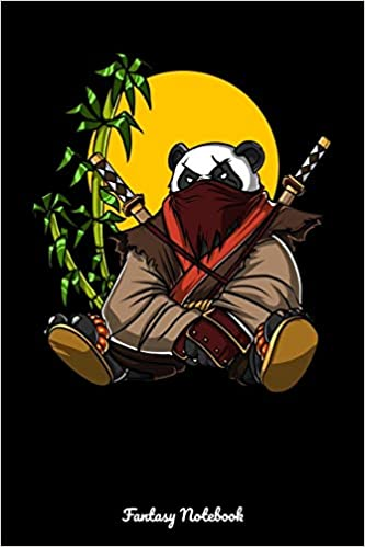 Fantasy Notebook: Panda Ninja Samurai Notebook: Amazon.es ...