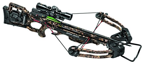 TenPoint Turbo GT Crossbow Package with 3x Pro-View 2 Scope, 3 Pro-Elite Carbon Arrows, 3-Arrow Instant Detach Quiver, and Ambidextrous Side Quiver Mount, With Acudraw 50