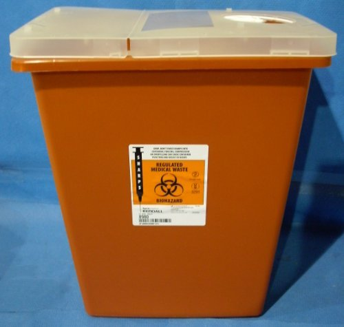 Biohazard/Sharps Containers, 8 Gallon, Case of 10