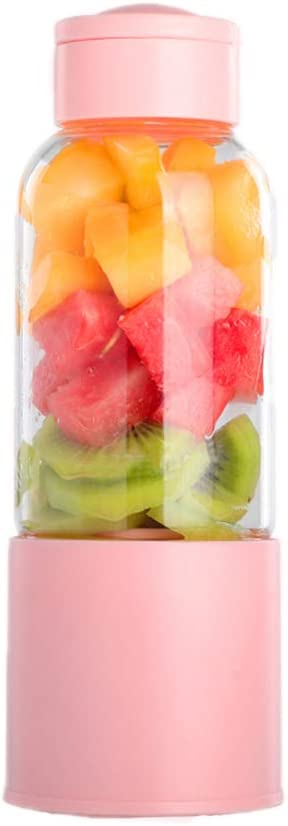 Portable Blender Travel Juicer Cup Mini Personal Size Blenders USB Rechargeable Fruit Shakes Smoothie Mixer 450ml(15.2oz)