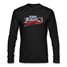 SAMMA Men's One Piece Burning Blood Long Sleeve T Shirt
