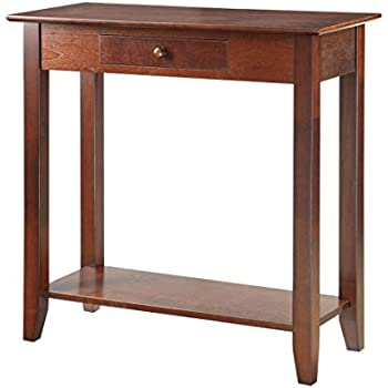 Convenience Concepts American Heritage Hall Table with Drawer and Shelf, Espresso
