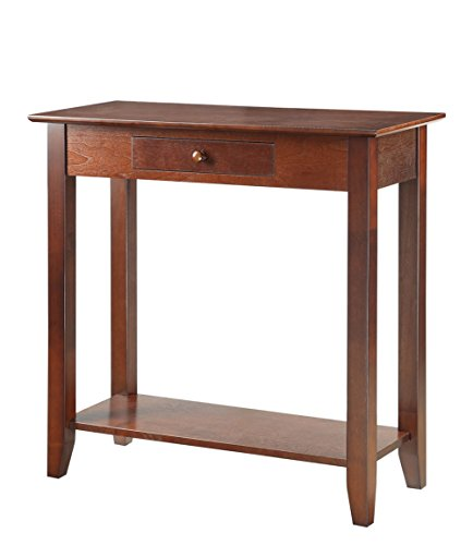 Convenience Concepts American Heritage Hall Table with Drawer and Shelf, Espresso (American Heritage Hall Table)
