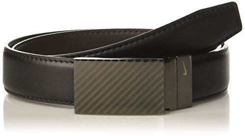 Nike Men's Carbon Fiber Plaque Reversible Belt, Black/Brown, 34 -