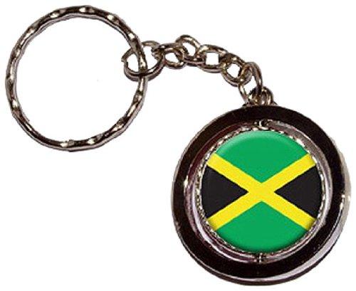 Jamaica Jamaican Round Spinning Keychain