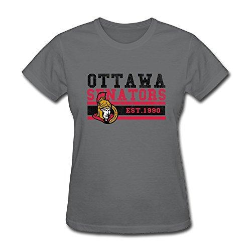 Women's T-shirt-Particular Ottawa City Ice Hockey Sport Logo1990 DeepHeather SizeXXL