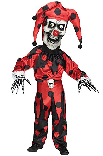 Bobble Head Halloween Costumes+kids (Bobble Head Evil Jester Child Costume - Large)