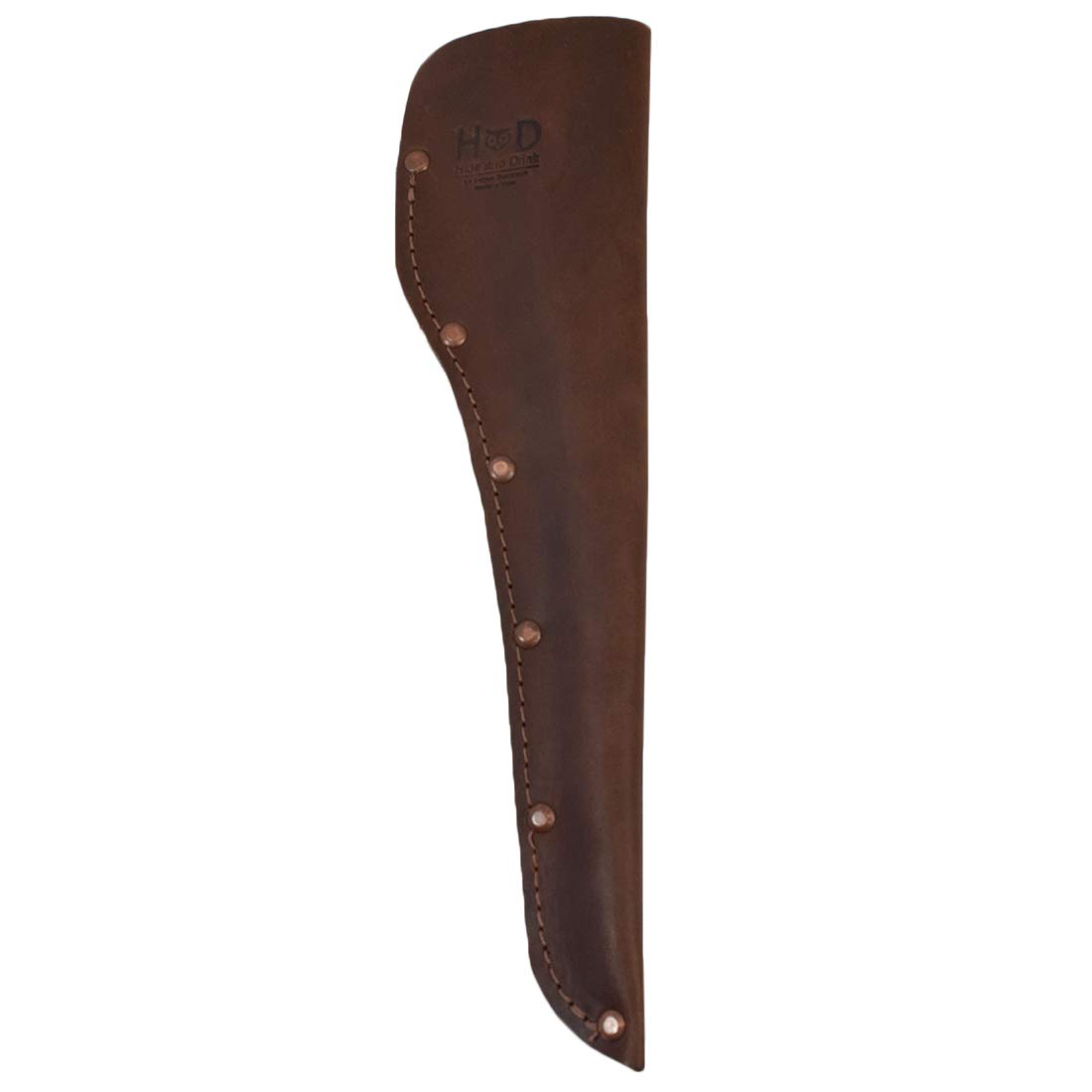 Hide & Drink, Thick Leather Knife Sheath Accepts 6 inch Blade Handmade Includes 101 Year Warranty :: Bourbon Brown by Hide & Drink