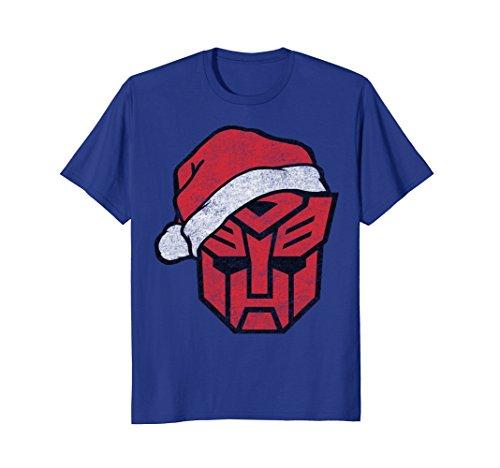 Shield Womens Cap Sleeve T-shirt - Transformers Santa Hat Robot Shield T-Shirt
