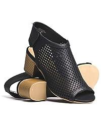 DLG Womens Roar Chunky Heel Mule Shoe