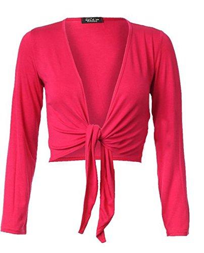 Fashion charming - Cárdigan - para mujer fucsia