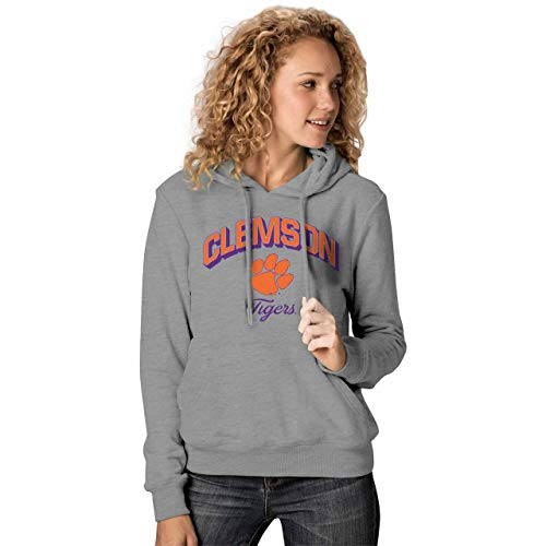 Clemson Tigers Womens Premium Campus Classic Goodie Hoodie - Charcoal, Womens Medium