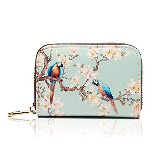 APHISON RFID Credit Card Holder Wallets for Women Leather Zipper Card Case for Ladies Girls/Gift Box 029