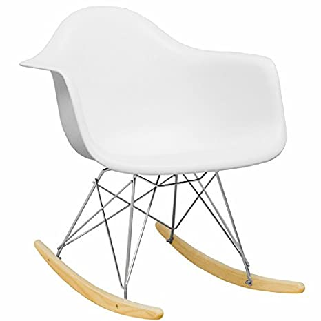 Swell Mod Made Mid Century Modern Paris Tower Rocker Rocking Chair White Lamtechconsult Wood Chair Design Ideas Lamtechconsultcom