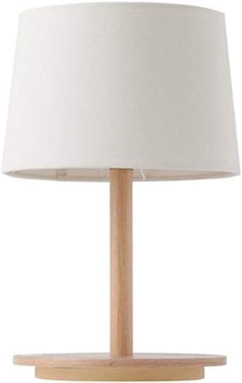 E27 Lámpara escritorio Con pantalla de tela de lino, Simple ...