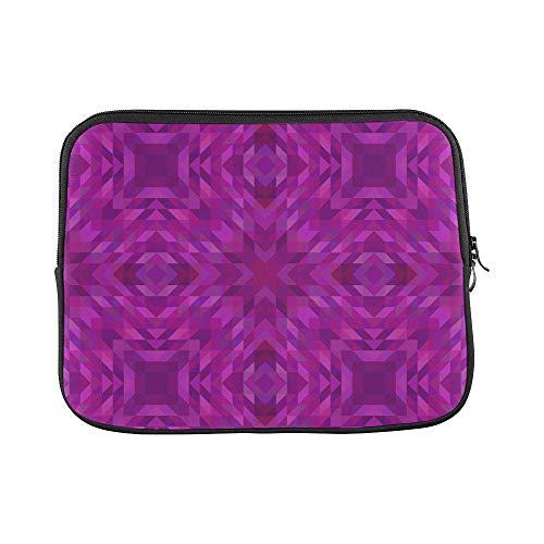 Design Custom Mosaic Pattern Purple Triangle Mirror Symmetry Sleeve Soft Laptop Case Bag Pouch Skin for MacBook Air 11