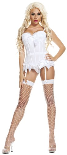 Starline Women's Dream Corset, White, 1X (42) (Corset Dream)