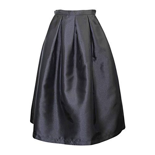 Blaque Label Womens Pleated Midi Skirt Black Medium