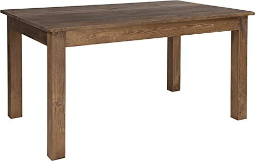 Emma Oliver 60 x 38 Rectangular Antique Rustic Solid Pine Farm Dining Table
