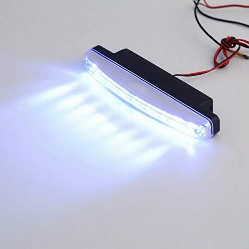 2x 8LED Car Head Lamp DRL Fog Light Driving Daylight Daytime Running LED New