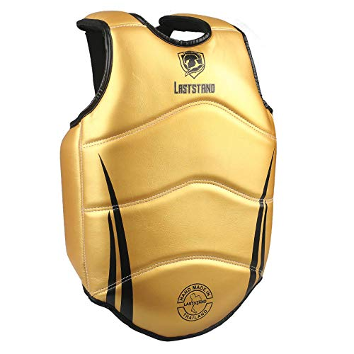 ASTSTAND Chest Guard Boxing Body Protector Kickboxing Martial Arts Muay Thai MMA Armour (Gold M)