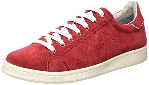 Geox Heren U Warrens Fashion Sneaker Rood Suède