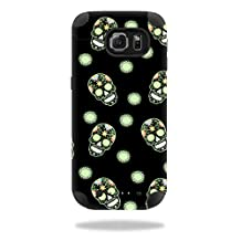 MightySkins Protective Vinyl Skin Decal for Mophie Juice Pack Samsung Galaxy S6 wrap cover sticker skins Glowing Skulls
