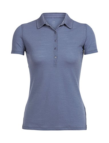 Icebreaker Tech Lite Short Sleeve Polo Shirt, Lightweight Merino Wool Jersey, Odor Resistant for Travel
