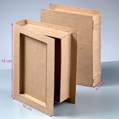 Artif en Caja con Forma de Libro de Papel maché, Dim, 18 x 14 x 4 ...