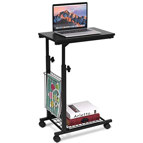nd Table C Table Laptop Holder End Stand Desk Coffee Tray Side Table Notebook Tablet Beside Bed Sofa Portable Workstation ()