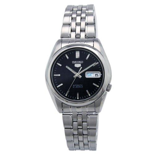 Seiko Men's SNK357 Seiko 5 Automatic Dark Blue Dial Stainless Steel Watch