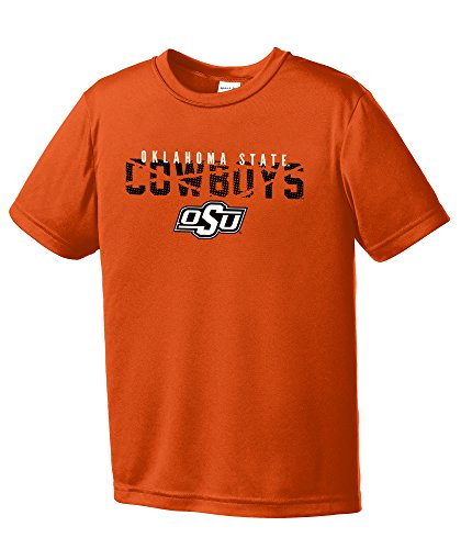 NCAA Oklahoma State Cowboys Youth Boys Destroyed Short sleeve Polyester Competitor T-Shirt, Youth ()