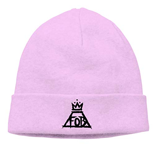 Pautabely Unisex Fall Out Boy Fahsion Warm Knit Cap for Mens Women Boys & Girls One Size Pink -