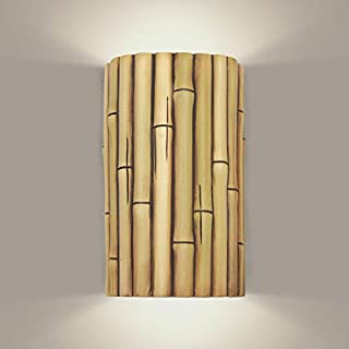 product image for A19 Bamboo Wall Sconce, 4-Inch by 6-Inch by 9.5-Inch, Natural
