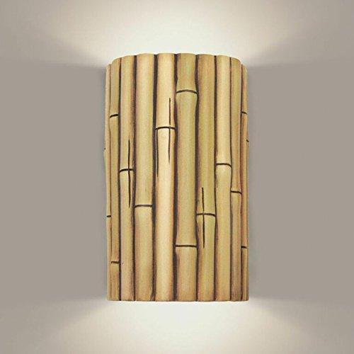 A19 Bamboo Wall Sconce, 4-Inch by 6-Inch by 9.5-Inch, Natural