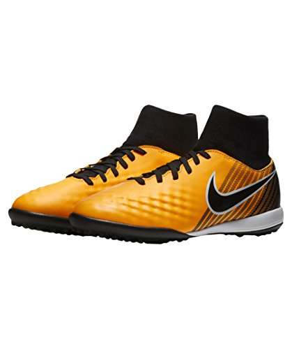 Nike JR MAGISTAX ONDA II DF TF - Zapatillas de fútbol sala, Unisex infantil, Naranja - (Laser Orange/Black-White-Volt)