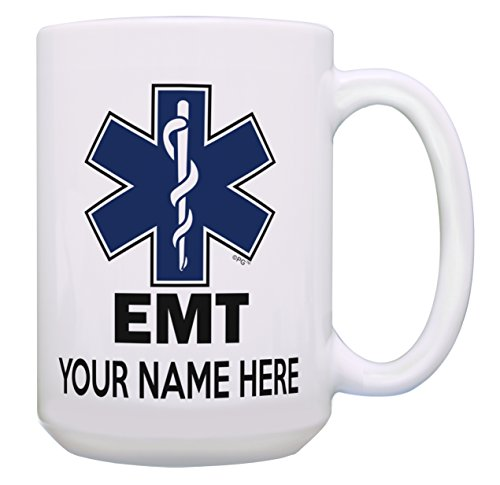 - Personalized EMT Mug Your Name EMT Retirement Gifts for Women First Responder Supplies Personalized Gift 15-oz Coffee Mug Tea Cup 15 oz White