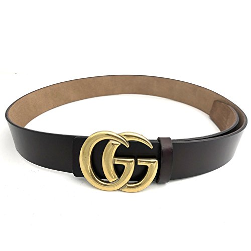 Gucci Replica (MoYoTo Womens Genuine Leather Thin Belts For Jeans 0.9″ Wide With Letter Buckle (Coffee))