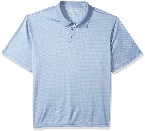 Haggar Men's Tall Short Sleeve Marled Polo, Denim Blue, 4X B