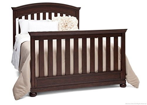 Full Size Conversion Kit Bed Rails for Simmons/Delta Childrens Castille Crib - Vintage Espresso by CC KITS (Image #1)