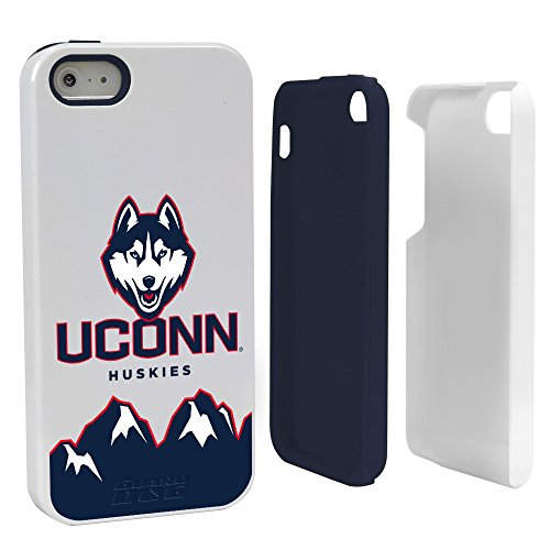 kies Hybrid Case for iPhone 5/5s, White, One Size (Ncaa Connecticut Uconn Huskies)