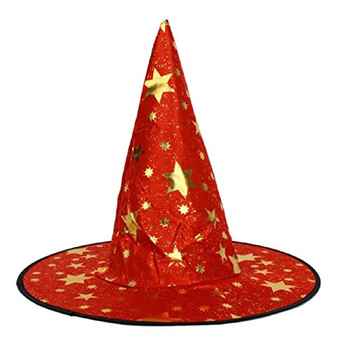 Vovotrade Adult Womens Mens Witch Hat For Halloween Costume Accessory Stars Print Cap (Enzyme Halloween Costume)