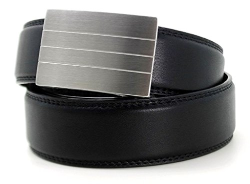 KORE-Mens-Track-Belt-Evolve-Stainless-Steel-Buckle-Full-Grain-Leather-Belt